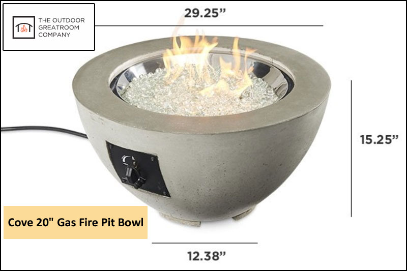 The Cove Gas Fire Pit Bowl